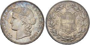 5 Franc Svizzera Argento