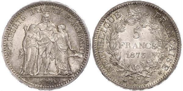 5 Franc Terza Repubblica francese (1870-1940)  Argento