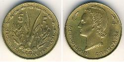 5 Franc French West Africa (1895-1958) Brass