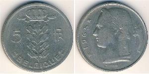 5 Franc Belgium Copper/Nickel