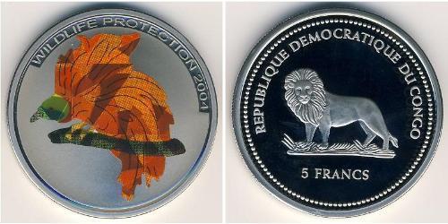 5 Franc Democratic Republic of the Congo Copper/Nickel