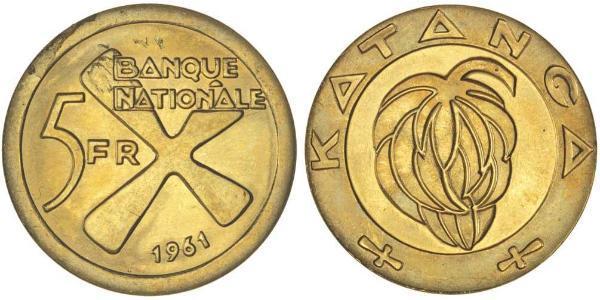 5 Franc Katanga Gold