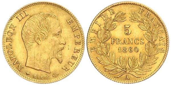 5 Franc Zweites Kaiserreich (1852-1870) Gold Napoleon III (1808-1873)