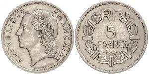5 Franc French Third Republic (1870-1940)  Nickel