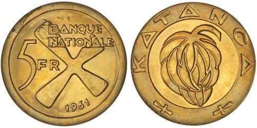 5 Franc Katanga Or