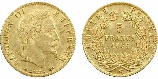 5 Franc Second Empire (1852-1870) Or Napoleon III (1808-1873)