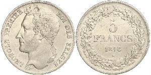 5 Franc Bélgica Plata Leopoldo I de Bélgica (1790-1865)