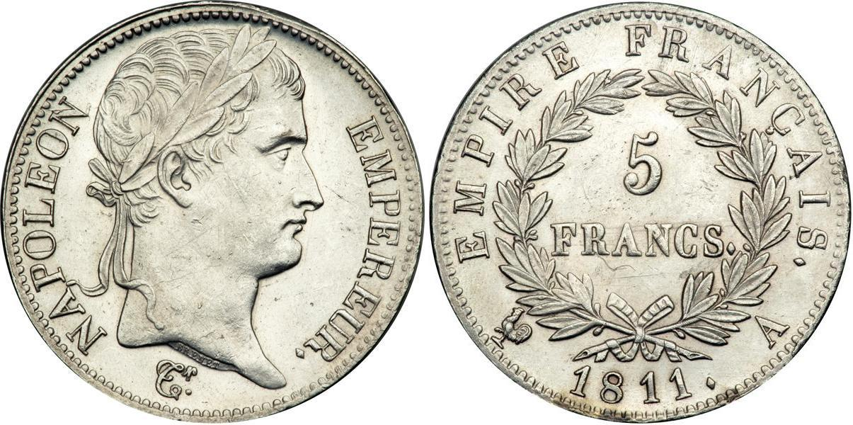 Noticias y  Generalidades - Página 37 Coin-image-5_Franc-Plata-Primer_Imperio_franc%C3%A9s_(1804_1814)-wZgKbzbiChMAAAFLdpKjlth6