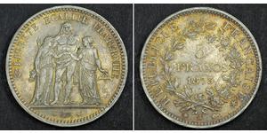 5 Franc Tercera República Francesa (1870-1940)  Plata