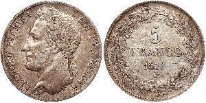 5 Franc Belgien Silber Leopold I. (Belgien) (1790-1865)