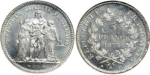 5 Franc Dritte Französische Republik (1870-1940)  Silber