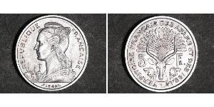 5 Franc French West Africa (1895-1958) Silber