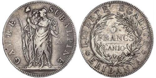 5 Franc Italian city-states Silber