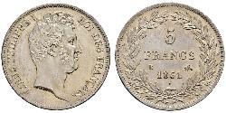 5 Franc Julimonarchie (1830-1848) Silber Louis-Philippe I (1773 -1850)