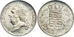 5 Franc Kingdom of France (1815-1830) Silber
