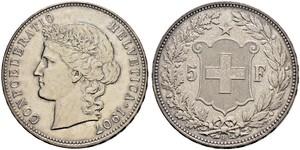 5 Franc Schweiz Silber