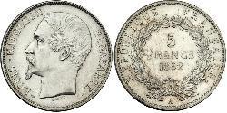 5 Franc Zweite Französische Republik (1848-1852) Silber Napoleon III (1808-1873)