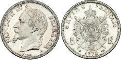 5 Franc Zweites Kaiserreich (1852-1870) Silber Napoleon III (1808-1873)