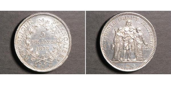 5 Franc French Third Republic (1870-1940)  Silver