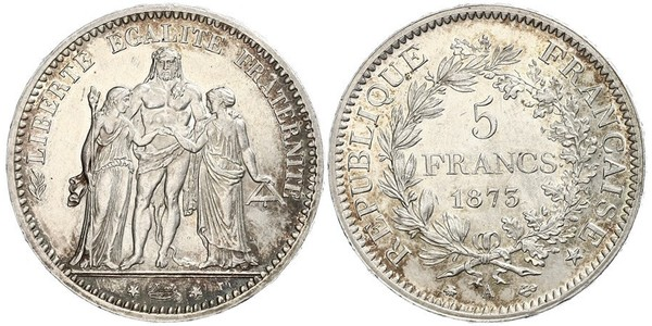 5 Franc French Third Republic (1870-1940)  Silver