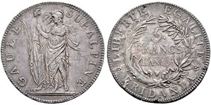 5 Franc Italian city-states Silver