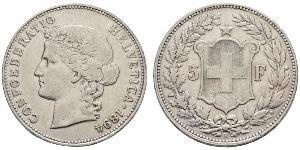 5 Franc Switzerland Silver