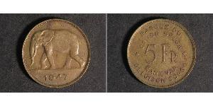 5 Franc Belgian Congo (1908 - 1960)