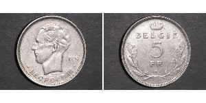 5 Franc Belgio  Leopoldo III del Belgio