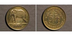5 Franc Geschichte der Demokratischen Republik Kongo (1908 - 1960)