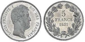 5 Franc July Monarchy (1830-1848)  Louis Philippe I of France (1773 -1850)
