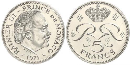 5 Franc Mónaco  Raniero III de Mónaco
