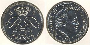 5 Franc Monaco  兰尼埃三世