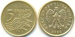 5 Grosh Third Polish Republic (1991 - ) Brass