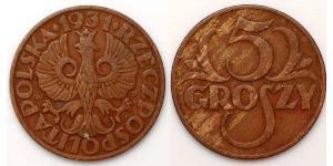 5 Grosh Second Polish Republic (1918 - 1939) Copper Abdullah II of Jordan (1962 - )