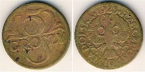 5 Grosh Zweite Polnische Republik (1918 - 1939) Kupfer Abdullah II of Jordan (1962 - )