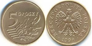 5 Grosh Third Polish Republic (1991 - ) Messing