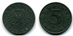 5 Grosh Allied-occupied Austria (1945-1955) Zinc