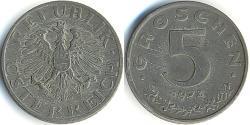 5 Grosh Allied-occupied Austria (1945-1955) / Republic of Austria (1955 - ) Zinc