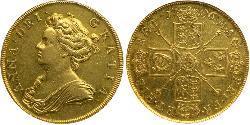 5 Guinea Königreich England (927-1649,1660-1707) Gold Anne (Großbritannien)(1665-1714)