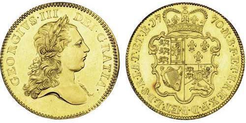 5 Guinea Königreich Großbritannien (1707-1801) Gold Georg III (1738-1820)