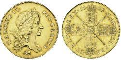 5 Guinea Kingdom of England (927-1649,1660-1707) Gold Charles II (1630-1685)
