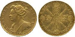 5 Guinea Kingdom of England (927-1649,1660-1707) Gold Anne, Queen of Great Britain (1665-1714)