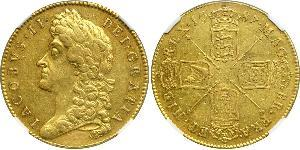 5 Guinea Kingdom of England (927-1649,1660-1707) Gold James II (1633-1701)
