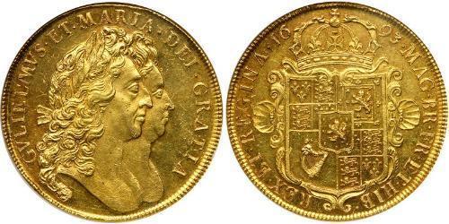 5 Guinea Kingdom of England (927-1649,1660-1707) Gold William III (1650-1702)