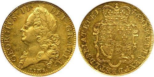 5 Guinea Kingdom of Great Britain (1707-1801) Gold George II (1683-1760)