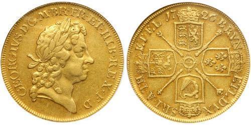 5 Guinea Regno Unito di Gran Bretagna (1707-1801) Oro Giorgio I (1660-1727)