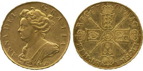 5 Guinea Reino de Inglaterra (927-1649,1660-1707) Oro Ana de Gran Bretaña(1665-1714)