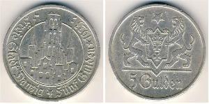 5 Gulden Gdansk (1920-1939) Argent