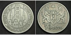 5 Gulden Gdansk (1920-1939) Argento