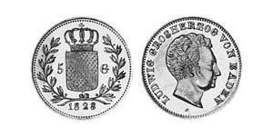 5 Gulden Grand Duchy of Baden (1806-1918) Gold Louis I, Grand Duke of Baden (1763 - 1830)